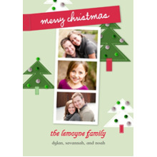 Christmas Photo Cards 5x7 Cards, Premium Cardstock 120lb with Rounded Corners, Card & Stationery -Holiday Memories