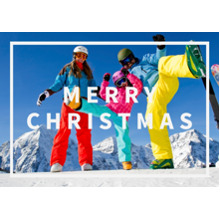 Christmas Photo Cards 5x7 Cards, Premium Cardstock 120lb with Elegant Corners, Card & Stationery -MERRY