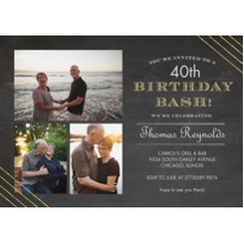 Birthday Party Invites 5x7 Cards, Premium Cardstock 120lb, Card & Stationery -Glitter Burst Birthday - Invitation