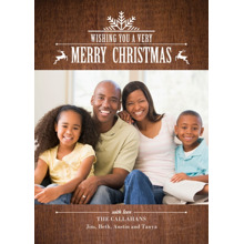Christmas Photo Cards 5x7 Cards, Premium Cardstock 120lb with Rounded Corners, Card & Stationery -Woodland Snowflake