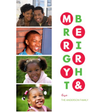Christmas Photo Cards 5x7 Cards, Premium Cardstock 120lb with Rounded Corners, Card & Stationery -Merry Days