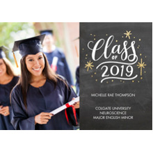2019 Graduation Announcements 5x7 Cards, Premium Cardstock 120lb with Rounded Corners, Card & Stationery -2019 Class of Lettering by Tumbalina