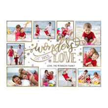 Christmas Photo Cards 5x7 Cards, Premium Cardstock 120lb with Rounded Corners, Card & Stationery -Christmas Wonders of Love by Tumbalina