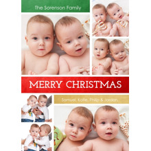 Christmas Photo Cards 5x7 Cards, Premium Cardstock 120lb with Elegant Corners, Card & Stationery -Christmas Wishes