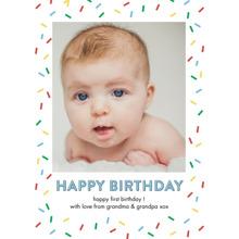 Birthday Greeting Cards 5x7 Folded Cards, Standard Cardstock 85lb, Card & Stationery -Birthday Confetti