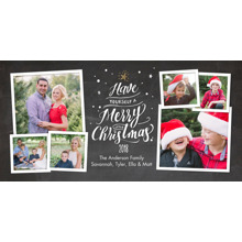 Christmas Photo Cards 4x8 Flat Card Set, 85lb, Card & Stationery -Christmas 2018 Word Tree by Tumbalina