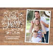 Christmas Photo Cards 5x7 Cards, Premium Cardstock 120lb with Elegant Corners, Card & Stationery -Christmas Very Merry