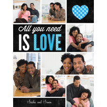 Love Plush Fleece Blanket, 60x80, Gift -All You Need is Love