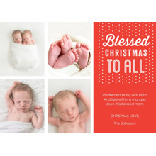 Christmas Photo Cards 5x7 Cards, Premium Cardstock 120lb with Elegant Corners, Card & Stationery -Holiday Blessings