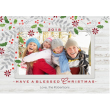 Christmas Photo Cards 5x7 Cards, Premium Cardstock 120lb with Elegant Corners, Card & Stationery -2018 Rustic Holiday Frame by Hallmark