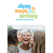 Birthday Greeting Cards 5x7 Folded Cards, Premium Cardstock 120lb, Card & Stationery -Spectacular Starbursts
