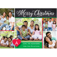 Christmas Photo Cards 5x7 Cards, Premium Cardstock 120lb with Rounded Corners, Card & Stationery -Festive Christmas