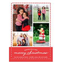 Christmas Photo Cards 5x7 Cards, Premium Cardstock 120lb with Rounded Corners, Card & Stationery -Christmas Border