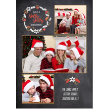 Christmas Photo Cards 5x7 Cards, Premium Cardstock 120lb with Rounded Corners, Card & Stationery -Holly Jolly Christmas