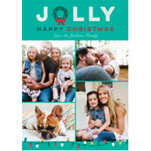 Christmas Photo Cards 5x7 Cards, Premium Cardstock 120lb with Elegant Corners, Card & Stationery -Jolly Wreath
