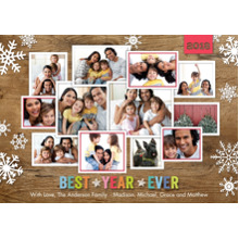 Christmas Photo Cards 5x7 Cards, Premium Cardstock 120lb with Elegant Corners, Card & Stationery -Holiday 2018 Best Year Ever by Tumbalina