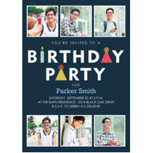 Birthday Party Invites 5x7 Cards, Premium Cardstock 120lb, Card & Stationery -Birthday Party Icons