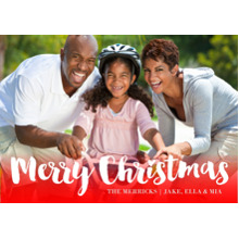 Christmas Photo Cards 5x7 Cards, Premium Cardstock 120lb with Rounded Corners, Card & Stationery -Bright Christmas