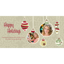 Christmas Photo Cards 4x8 Flat Card Set, 85lb, Card & Stationery -Dangling Ornaments