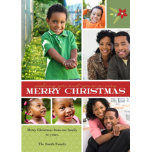 Christmas Photo Cards 5x7 Cards, Premium Cardstock 120lb with Elegant Corners, Card & Stationery -Holiday Bouquet