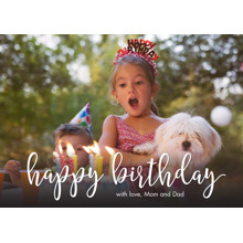 Birthday Greeting Cards 5x7 Folded Cards, Standard Cardstock 85lb, Card & Stationery -Birthday Script