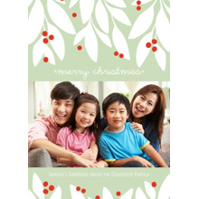 Christmas Photo Cards 5x7 Cards, Premium Cardstock 120lb with Elegant Corners, Card & Stationery -Garland Christmas