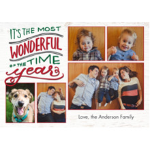 Christmas Photo Cards 5x7 Cards, Premium Cardstock 120lb with Elegant Corners, Card & Stationery -Christmas Wonderful Greeting