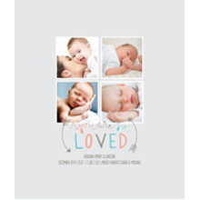 Baby + Kids Framed Canvas Print, Black, 8x10, Home Decor -So Loved