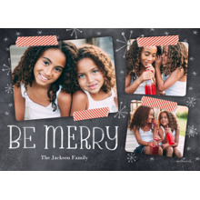 Christmas Photo Cards 5x7 Cards, Premium Cardstock 120lb with Elegant Corners, Card & Stationery -Chalkboard & Washi Tape