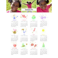 Calendar 11x14 Poster(s), Board, Home Decor -A Year of Celebrations