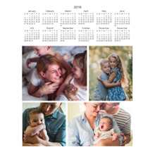 Calendar 11x14 Poster(s), Board, Home Decor -2019 Calendar - Multi Photo