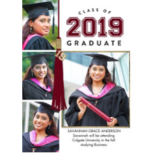 2019 Graduation Announcements 5x7 Cards, Premium Cardstock 120lb with Scalloped Corners, Card & Stationery -Grad 2019 Tassel Memories by Tumbalina