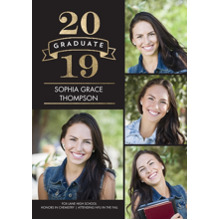 2019 Graduation Announcements 5x7 Cards, Premium Cardstock 120lb with Rounded Corners, Card & Stationery -2019 Graduate Banner by Tumbalina