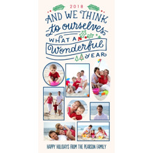 Christmas Photo Cards 4x8 Flat Card Set, 85lb, Card & Stationery -And We Think to Ourselves