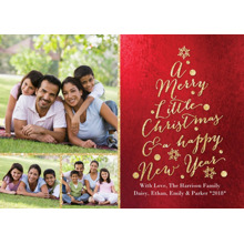 Christmas Photo Cards 5x7 Cards, Premium Cardstock 120lb with Elegant Corners, Card & Stationery -Christmas Glitter Word Tree
