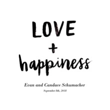 Non Photo Canvas Print, 20x24, Home Decor -Love Happiness