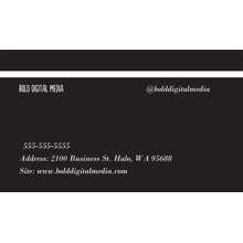 Arts & Media 2x3.5 Business Cards - Double Sided , Card & Stationery -Bold Shapes