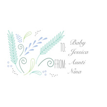 Baby & Kids Gift Tags, Card & Stationery -Whimsy Hello World
