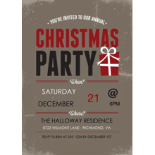 Christmas Party Invitations 5x7 Cards, Premium Cardstock 120lb with Elegant Corners, Card & Stationery -Vintage Christmas