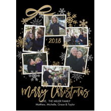 Christmas Photo Cards 5x7 Cards, Premium Cardstock 120lb with Elegant Corners, Card & Stationery -Christmas 2018 Snapshots Wreath by Tumbalina