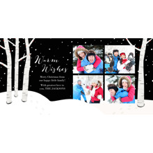 Christmas Photo Cards 4x8 Flat Card Set, 85lb, Card & Stationery -Winter's Eve Holiday