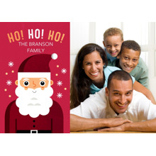 Christmas Photo Cards 5x7 Cards, Premium Cardstock 120lb with Elegant Corners, Card & Stationery -Button-nosed Santa