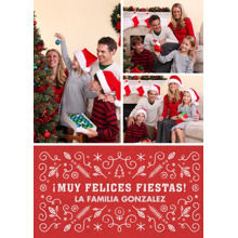 Christmas Photo Cards 5x7 Cards, Premium Cardstock 120lb with Rounded Corners, Card & Stationery -Muy Felices Fiestas