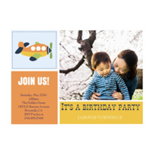 Birthday Party Invites 5x7 Cards, Standard Cardstock 85lb, Card & Stationery -Buzzing Birthday