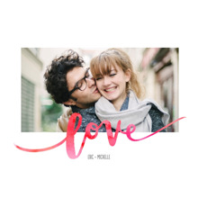 Love Framed Canvas Print, Black, 20x24, Home Decor -Love Watercolors