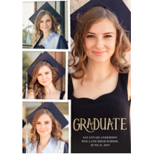 2019 Graduation Announcements 5x7 Cards, Premium Cardstock 120lb with Rounded Corners, Card & Stationery -Graduate 2019 Snapshots by Tumbalina