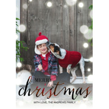 Christmas Photo Cards 5x7 Cards, Premium Cardstock 120lb with Rounded Corners, Card & Stationery -Ruby Script Christmas