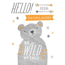 Baby & Kids 3.5x5 Folded Notecard, Card & Stationery -Little Bear Cub