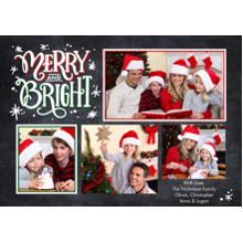 Christmas Photo Cards 5x7 Cards, Premium Cardstock 120lb with Elegant Corners, Card & Stationery -Christmas Merry & Bright Memories by Tumbalina