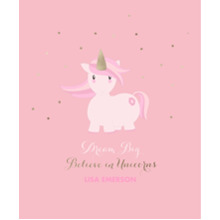 Baby + Kids Framed Canvas Print, Oak, 16x20, Home Decor -Unicorn Magic